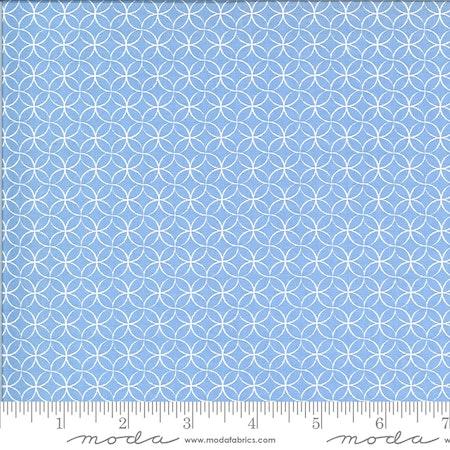 Spring Brook Bluebonnet-lys blå med hvit mønster