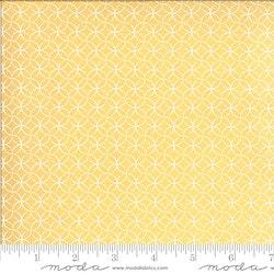 Spring Brook Sunny-gul med hvitt mønster
