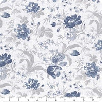 Indigo Garden- Light Slate Large Floral
