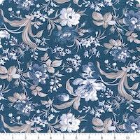 Indigo Garden - Indigo Large Floral Yardage