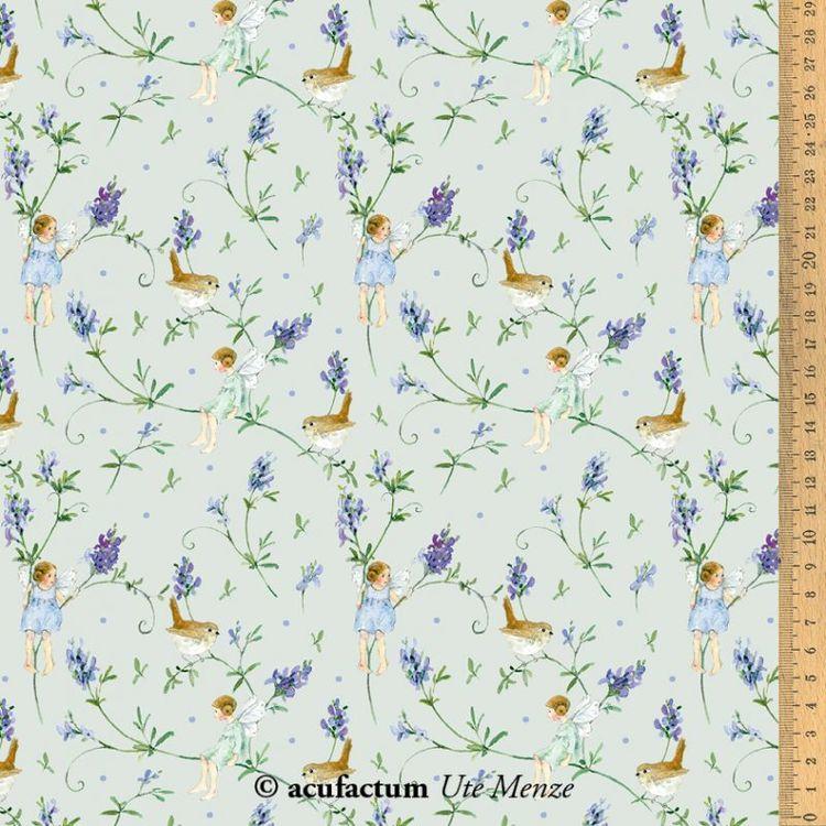 BW Lavendel alver av bomull: 145 cm bredde