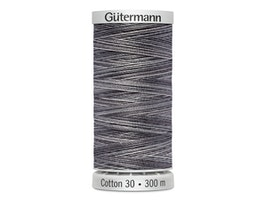 4028  Sulky Gûtermann Cotton 30, 300m, gra/svart flerfarget