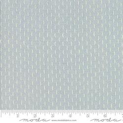 French Sashiko- Blue Dust med striper