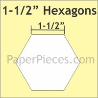 Hexagon -  1 1/2 inch