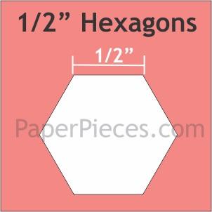 Hexagon - 1/2 inch