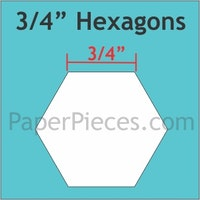 Hexagon - 3/4 inch