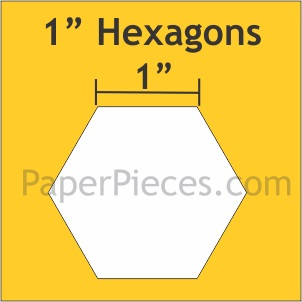 Hexagon - 1 inch
