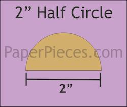 2 inch halv sirkel