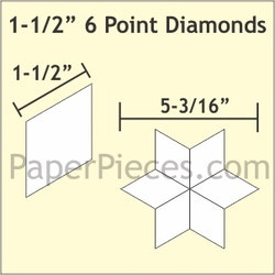 6 Point Diamond - 1 1/2 inch