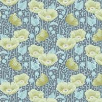 Tilda Gardenlife-Poppies Grey Green