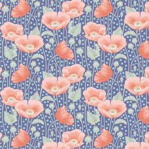 Tilda Gardenlife- Poppies Blue