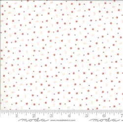Roselyn Tiny Calico Cream Red