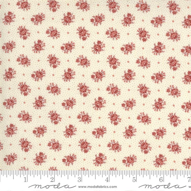 Jardin De Fleurs Pearl-krem med røde blomster
