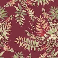The Seamstress- Cranberry  Fern