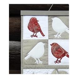 Rødhake x 6- veggbilde