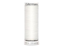 Gütermann 800- hvit , 200m