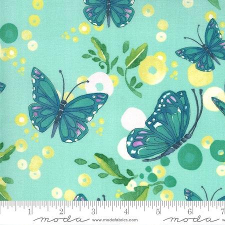 Cottage Bleu Dewdrop-turkis med sommerfugler