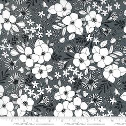 Illustrations Graphite - svart med hvite små blomster
