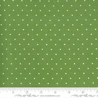Sunday Stroll Green. grønn med hvite prikker