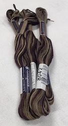 Farge 8042- Cosmo Seasons Variegated Embroidery Floss Dark Browns