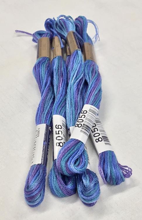 Farge 8056-Cosmo Seasons Variegated Embroidery Floss Blues/Purple