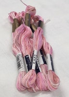 Farge 5001-Cosmo Seasons Variegated Embroidery Floss farge   Ligth Pinks