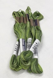 Farge 5014- Cosmo Seasons Variegated Embroidery Floss Greens