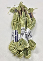 Farge 8016-Cosmo Seasons Variegated Embroidery Floss Greens