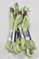Farge 5013-Cosmo Seasons Variegated Embroidery Floss  light greens