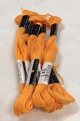 Farge 145-Cosmo Cotton Embroidery Floss 8m Skein Radiant Yellow