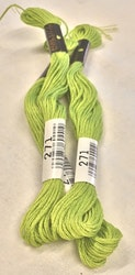 Farge 271-Cosmo Cotton Embroidery Floss 8m Skein Parrot Green