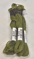 Farge 325A-Cosmo Cotton Embroidery Floss 8m Skein Vivid Yellow Green