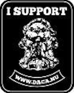 Tygmärke Support, rektangulärt.