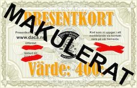 """Presentkort """"Stora"""" i vår webshop"""