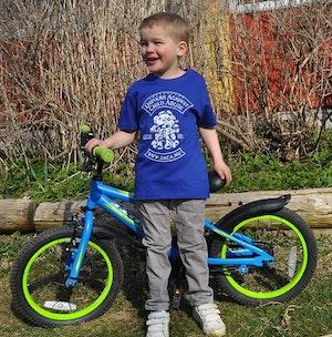 T-shirt, barn blå.