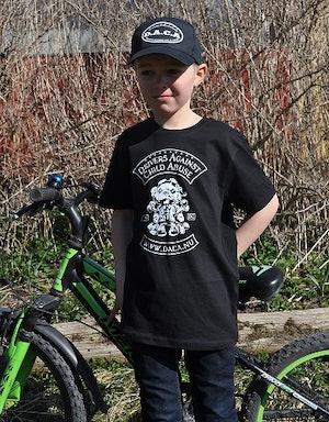 T-shirt, barn svart.
