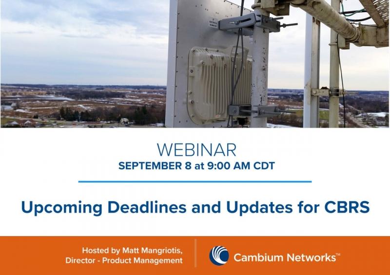Webbinar från Cambium Networks där vi får höra Matt Mangriotis, Director – Product Management och Dave Milholen, CTO