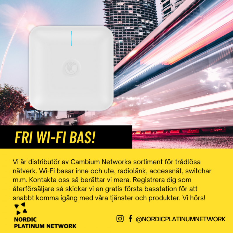 Gratis Wi-Fi basstation