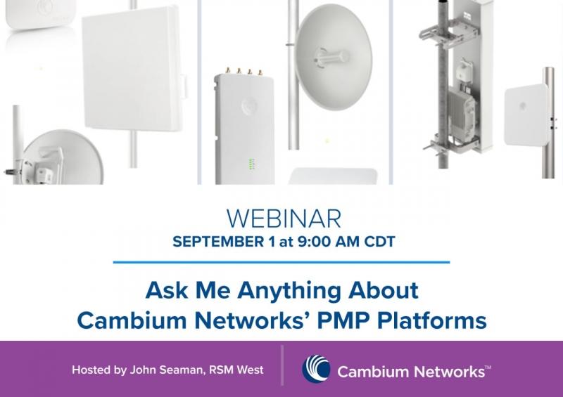 Här pratar vi om våra Accessnät från Cambium Networks. Välkommen att delta!