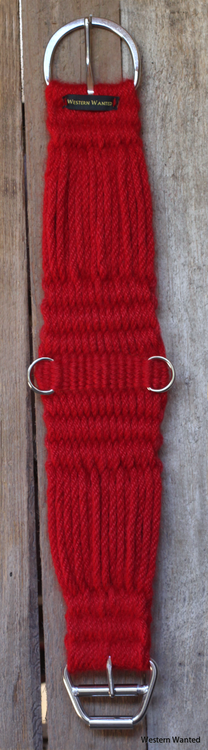 "Western Cutter Mohair Cinch ""Really Red"" 16ply Handspunnet 96% Mohair, 4% Ull."