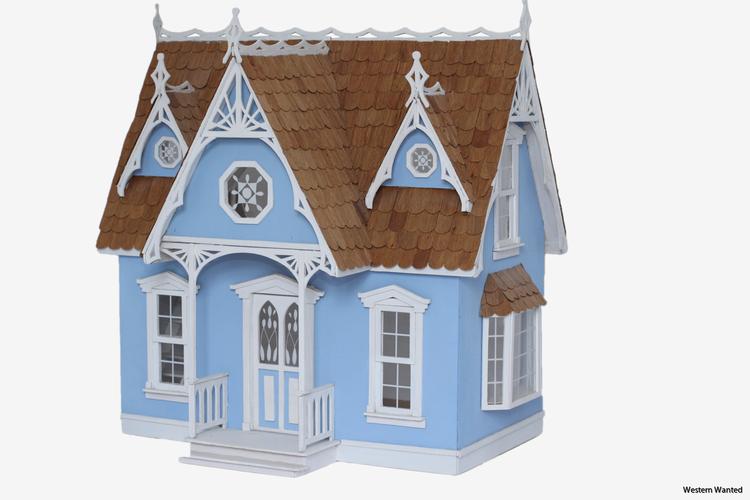 Victorian cottage Dollhouse kit 1:12. Förtjusande utsmyckade detaljer.
