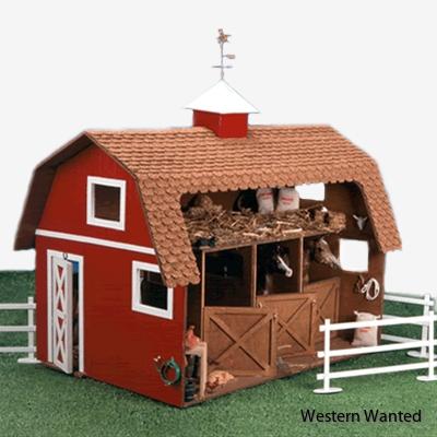 Wildwood Stable kit 1:12. Stabilt stall med höloft. Passar Breyer och Heartland hästar.