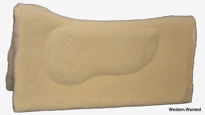 """Westernpad 100% LambsWool Reversible Contoured Square Insert 32""""x32"""""""