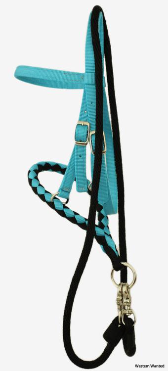 Olivia & Oliver Mini Bosal & Rope Game Rein