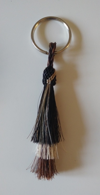 Western Key Ring Horse Hair Tassel