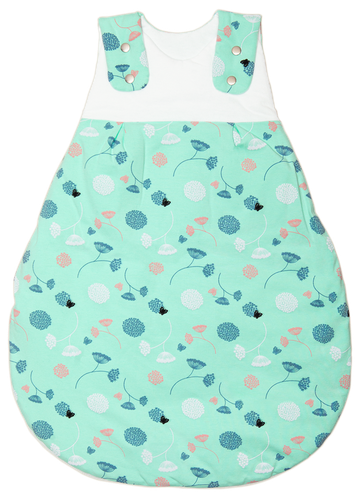 Organic baby sleeping bag - Spring Flowers