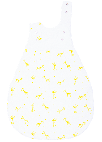 Organic baby sleeping bag - Giraffes