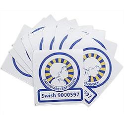 Swish-dekal 10-pack