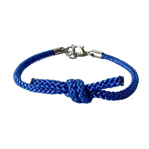 Blå Knuten-armband (medium/large)