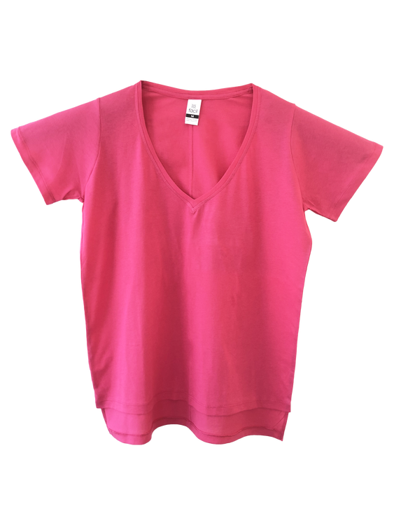 Scoop neck T-shirt with long back